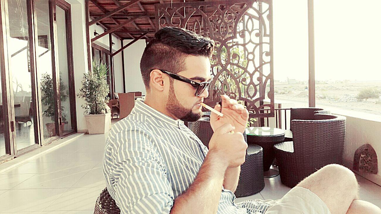 Smoking + Drinkin Nescafe = Relaxing .. That's Me