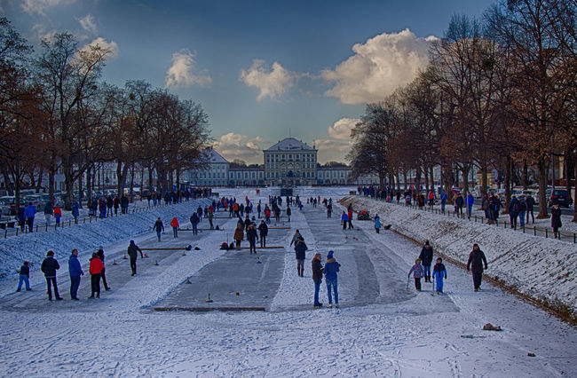 Bavarian Curling Bavarian Tradition Cold Temperature Eisstock Fun HDR High Dynamic Range High Dynamic Range Imaging Ice Ice Stock Ice Stock Sport Landscape Large Group Of People Nymphenburg Nymphenburg Palace Nymphenburger Kanal Outdoors People People Having Fun Snow Snow ❄ Stockschießen Winter Winter Winter Sport Shades Of Winter
