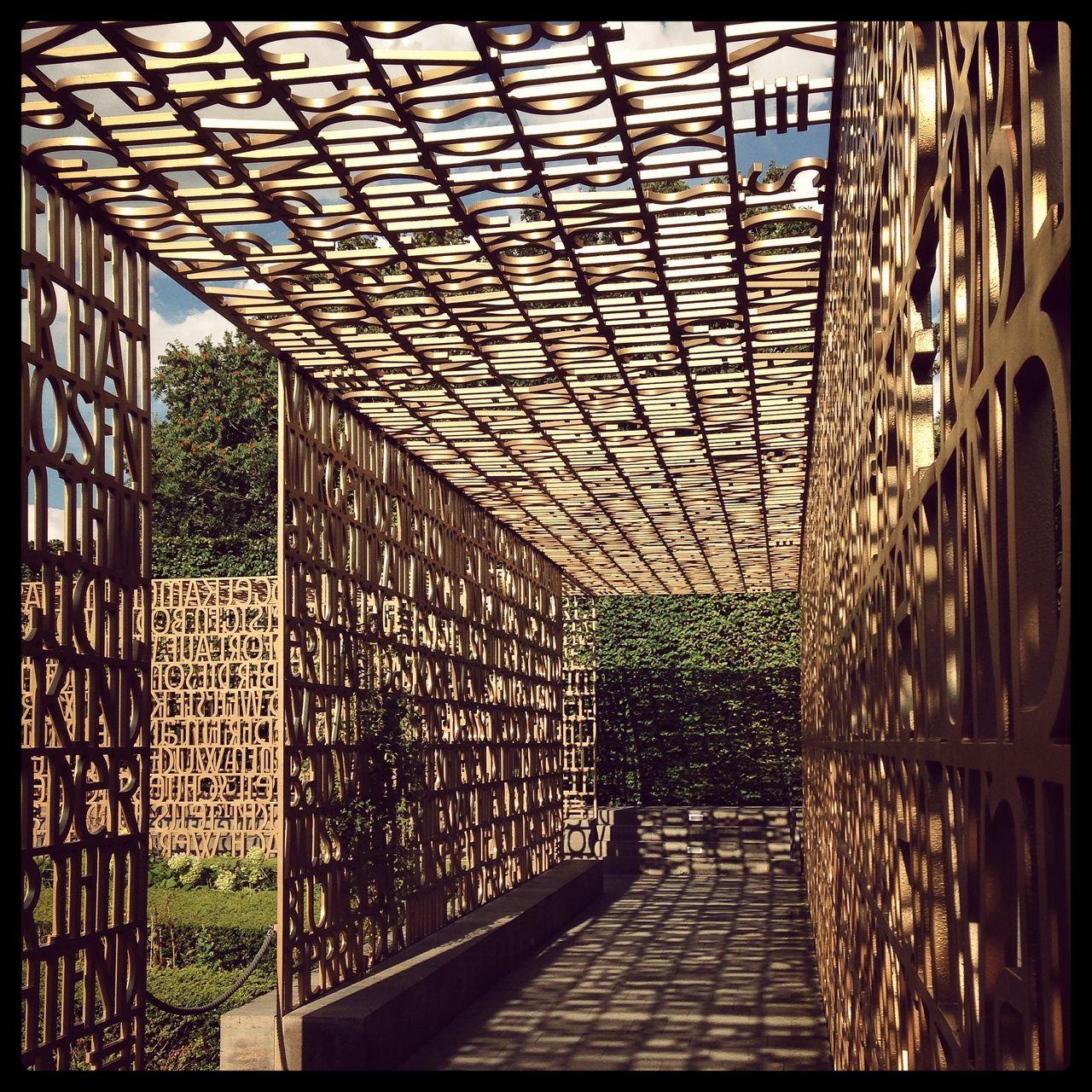Architecture Bible Built Structure Day Der Christliche Garten Golden Greenhouse Gärten Der Welt Indoors  Labyrinth Letter Letters Marzahn Metal Nature No People Sky