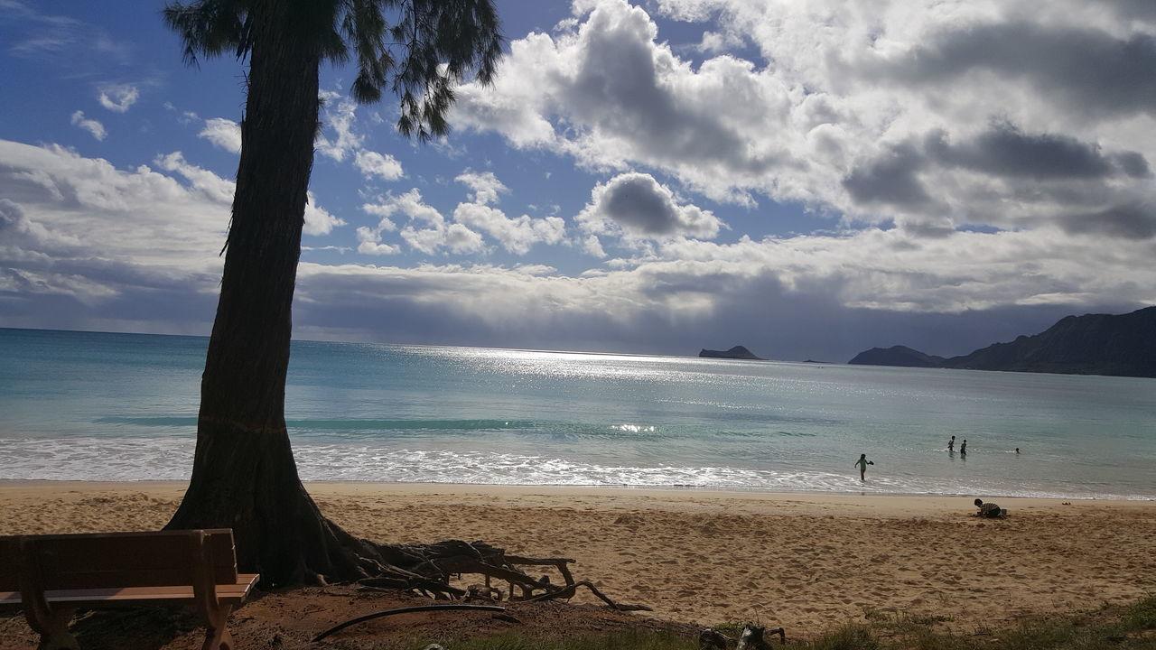 DJI OSMO Beach Beauty In Nature Bellows Beach, Hawaii, Oahu Kailua, Aloha Cloud - Sky Coastline Dji Osmo DJI Phantom 3 Pro Horizon Over Water Sand Sea Shore Vacations Water Wave