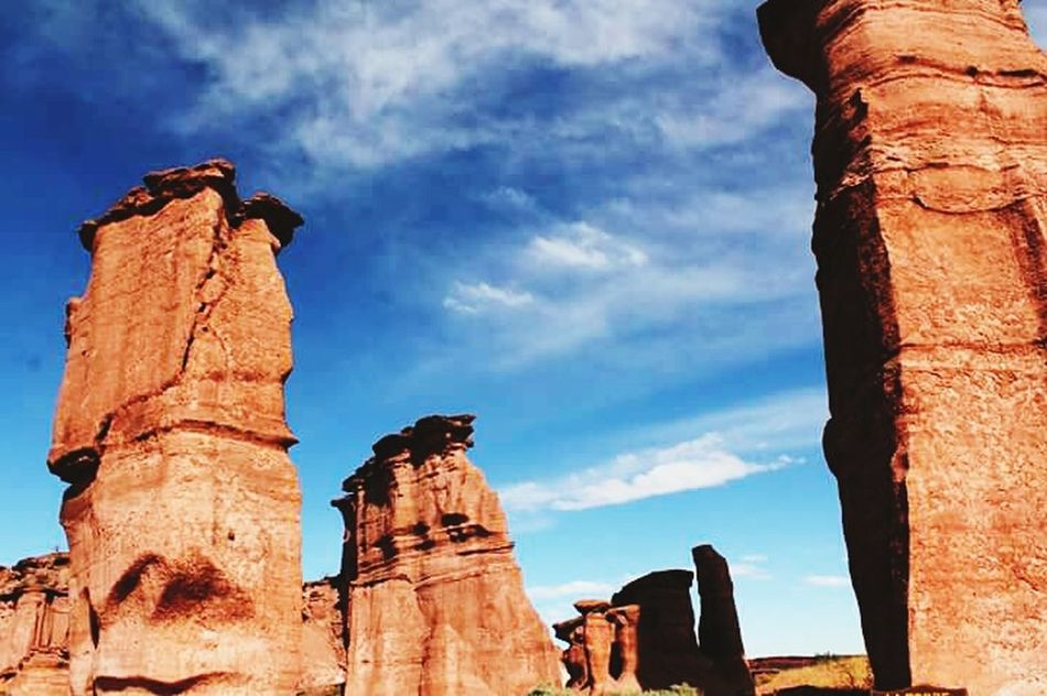 Cloud - Sky Travel Destinations Outdoors Travel Sky Tourism History Rock - Object Ancient No People Day Nature Argentina South America Talampaya