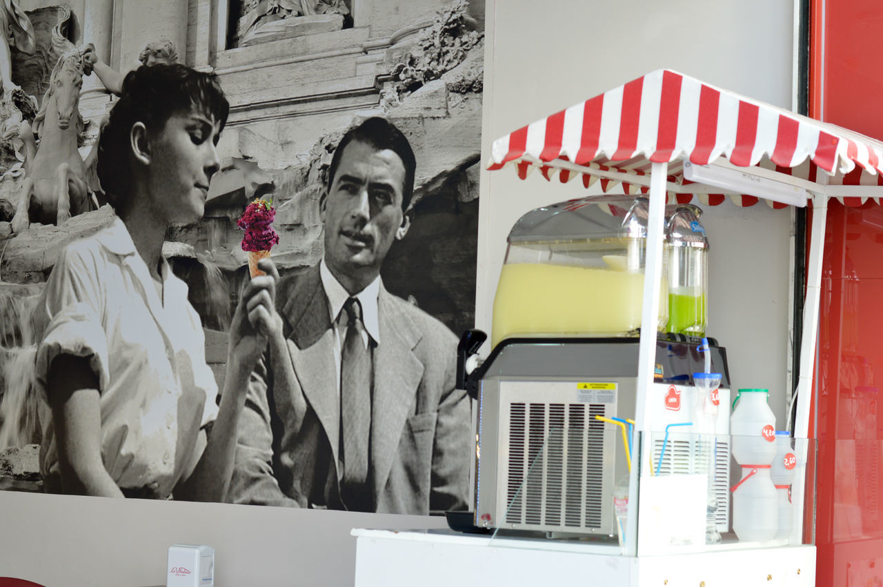 Audrey Hepburn Cooling Off Eating Ice Cream Gregory Peck Ice Cream Lemonade Roman Holiday Summertime