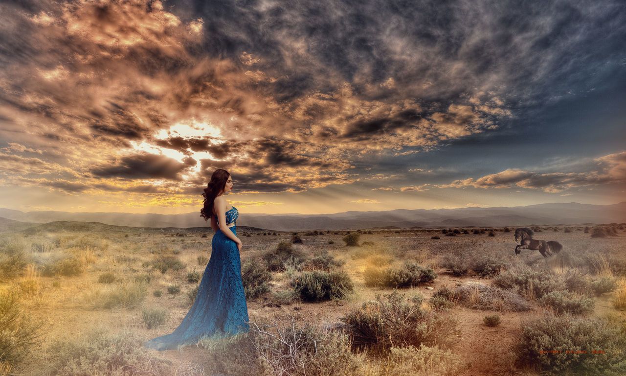 Beach Beauty Beauty In Nature Cloud - Sky Dramatic Sky Grass Nature One Person One Woman Only One Young Woman Only Only Women Outdoors People Photography Themes Sea Sky Sunset Tropical Climate Women