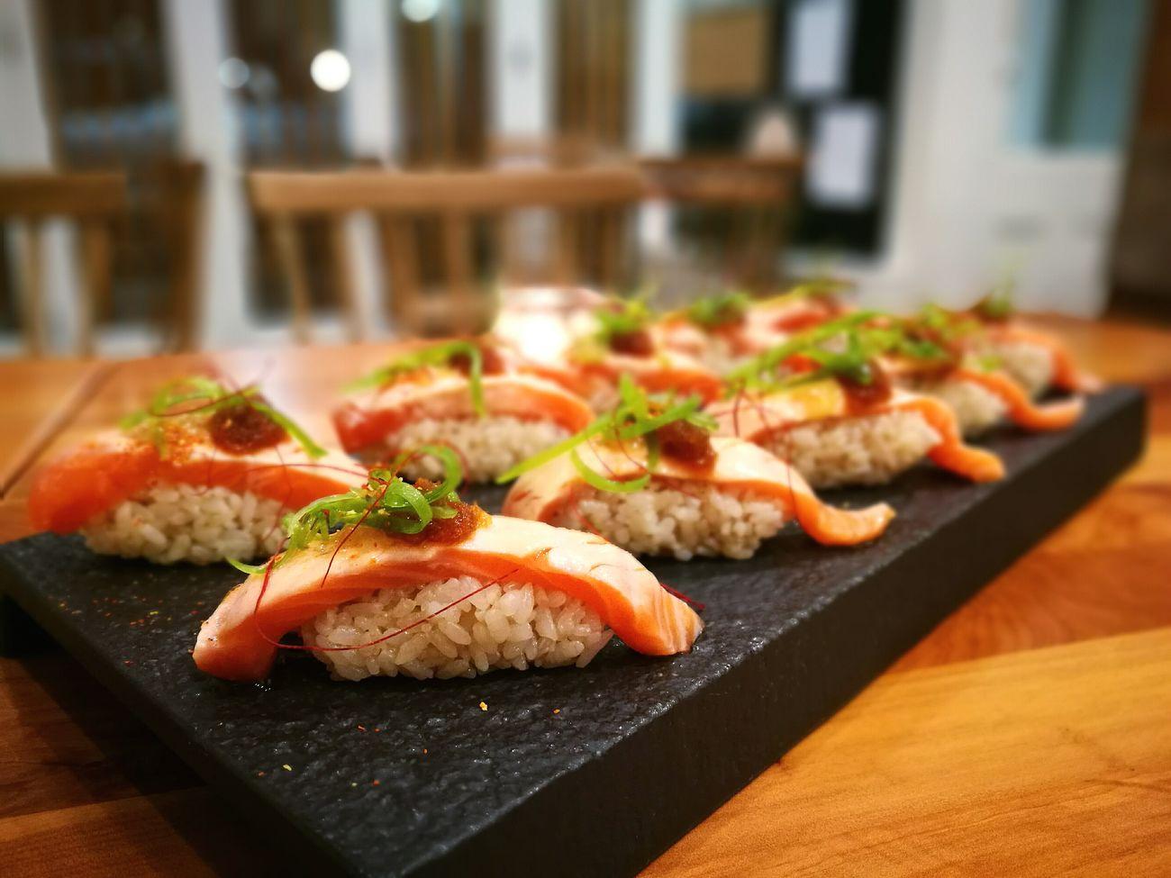Melting Moment Salmon Food Sushi Nigiri Salmon Nigiri Tasty Japanese Food SuparGusCollection