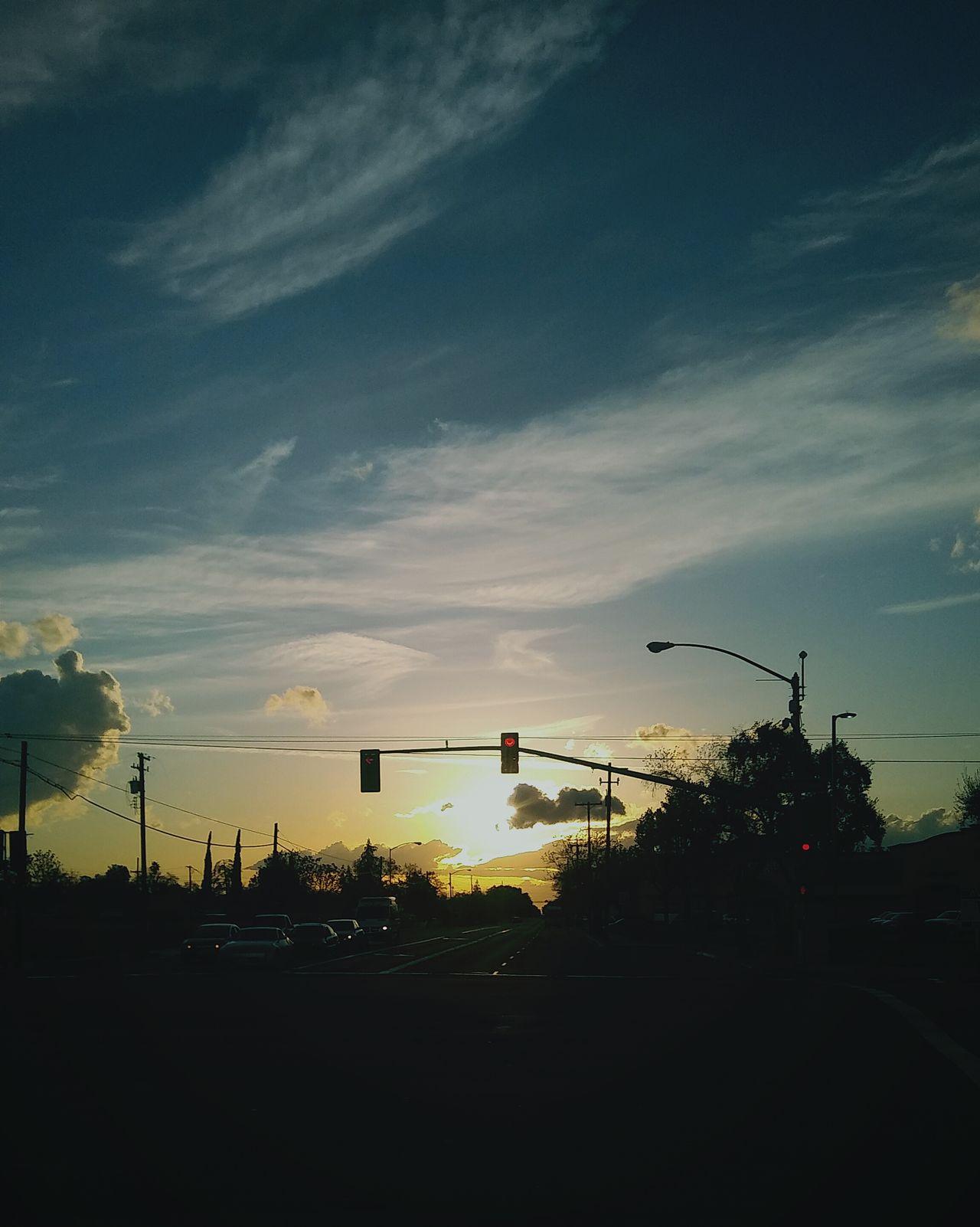 Sunset Sky Outdoors Miles Away Transportation Land Vehicle