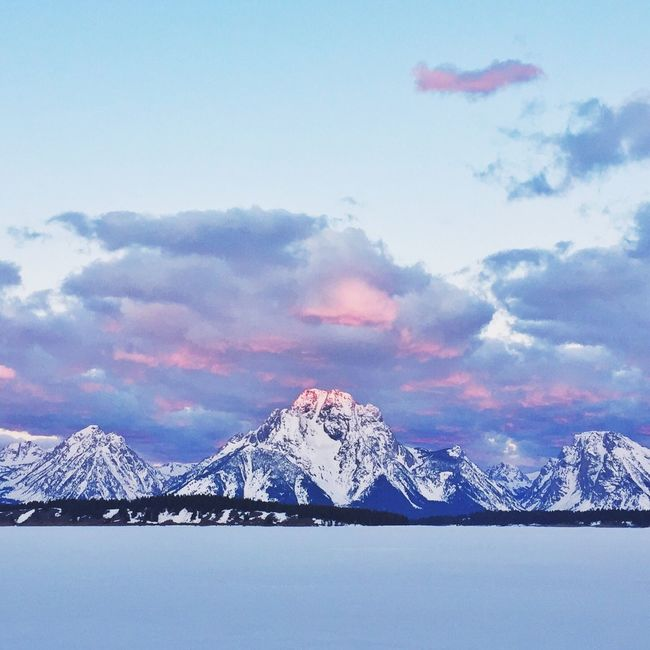 Sunset of Mount Moran inside Grand Teton National Park