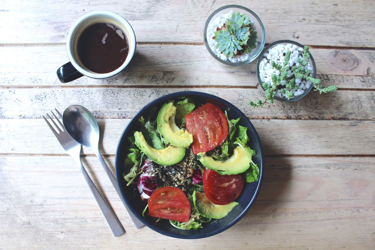 Beautiful stock photos of vegetables,  Avocado,  Chopped,  Coffee,  Directly Above
