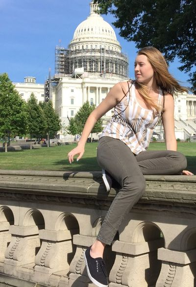 People And Places A visit the United States Capitol... US Capitol Building USA Architecture Dome Restoration Project Young Women Beautiful Young Adult Casual Clothing Built Structure Lifestyles In Front Of Washington, D. C. Washington DC DC Tourist Tourism Tourist Attraction  SaraLeeMcKinstry