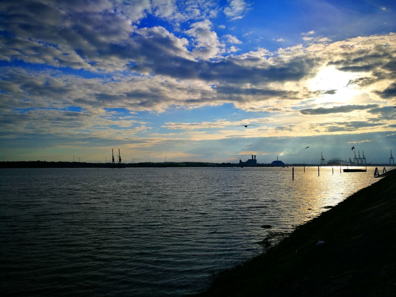 Southampton Docks Sea Water Sunset Cloud - Sky Outdoors Sky No People Vacations Tranquility Silhouette Horizon Over Water Nature Scenics Beach Beauty In Nature Travel Destinations