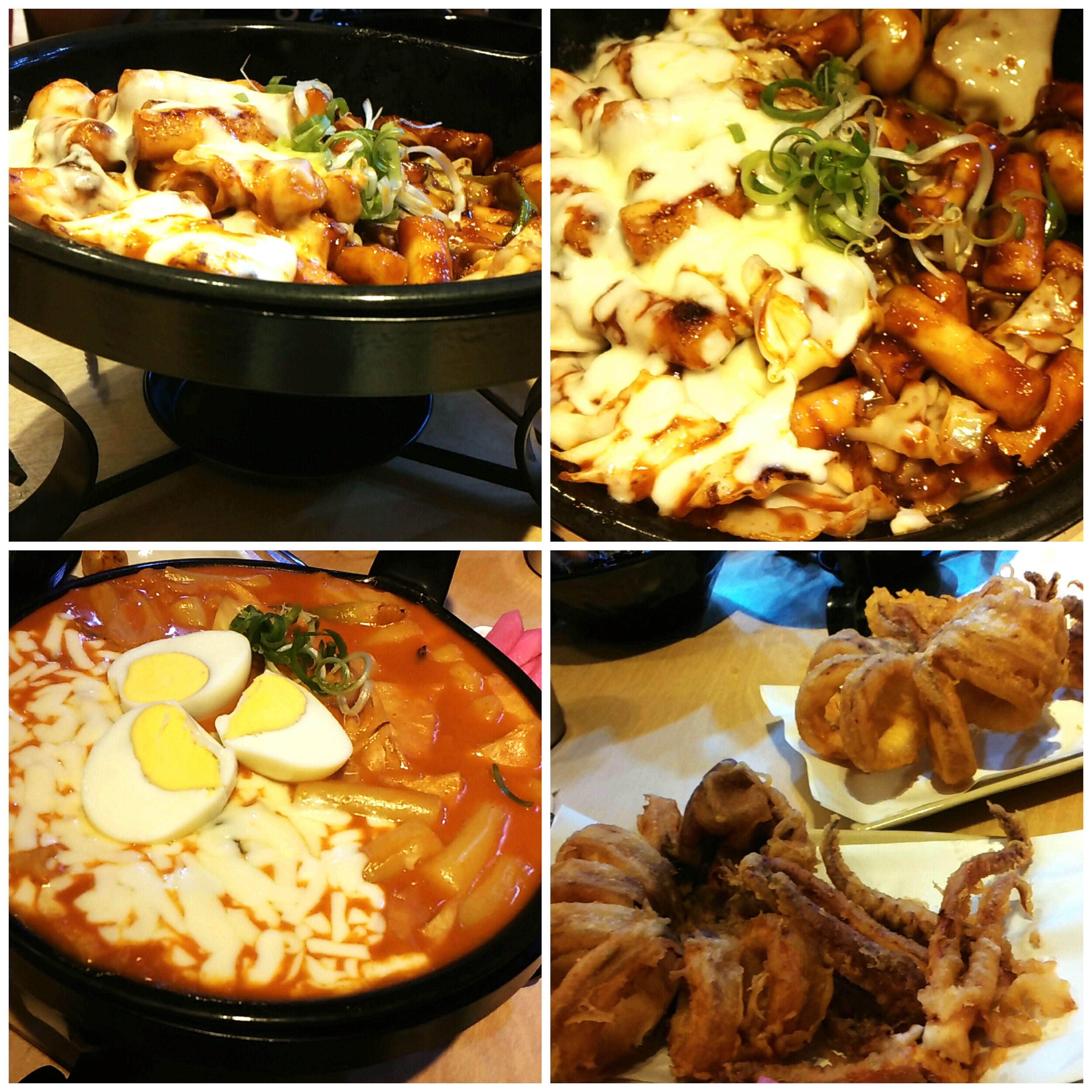 Food Porn Awards 기름떡볶이 Hot And Spicy Ddeok-bokkii cheeze ,fried cuttlefish , Chuncheon, South Korea