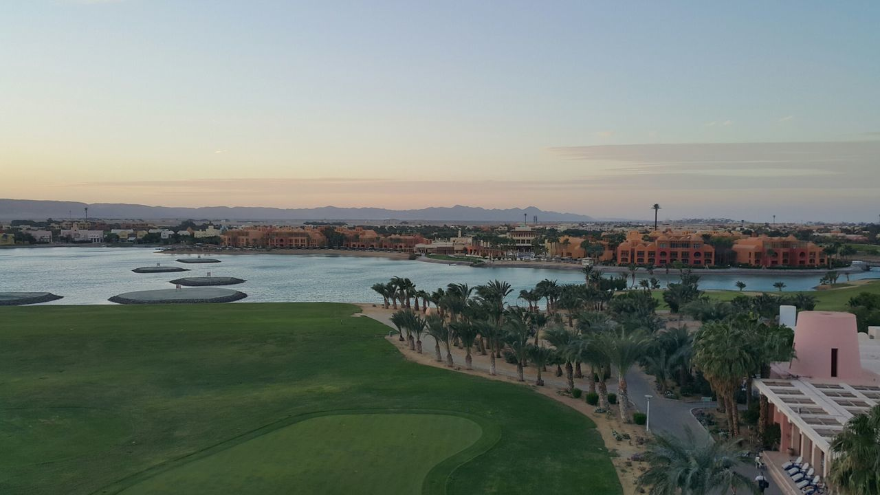Water Sky Travel Destinations Outdoors Urban Skyline Nature Vacations Architecture Day No People Beauty In Nature Sea Travel Sunset Hurghada Egypt Elgouna Red Sea Steigenberger Hotel Golf ⛳ Golf In Egypt