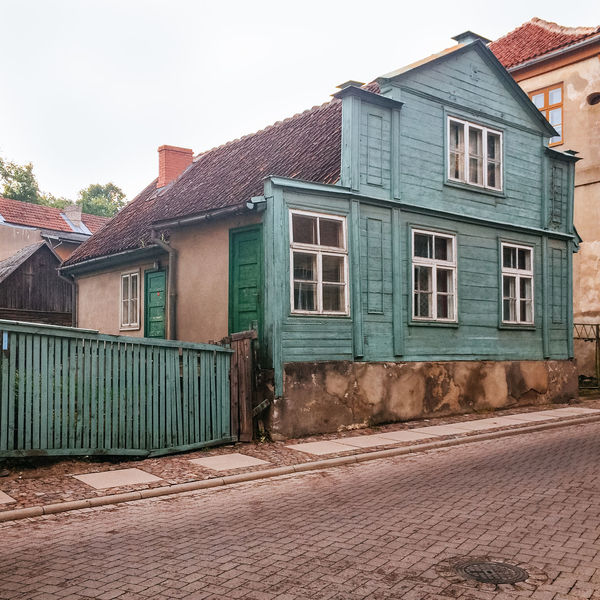Old painted timber house, Kuldiga, Latvia Architecture Building Exterior Built Structure Day Exterior Full Frame House Kuldiga Latvia Leading Narrow No People Old Outdoors Pattern Repetition Residential Structure Ruined Timber Town Village Wall Window Wooden Wooden House