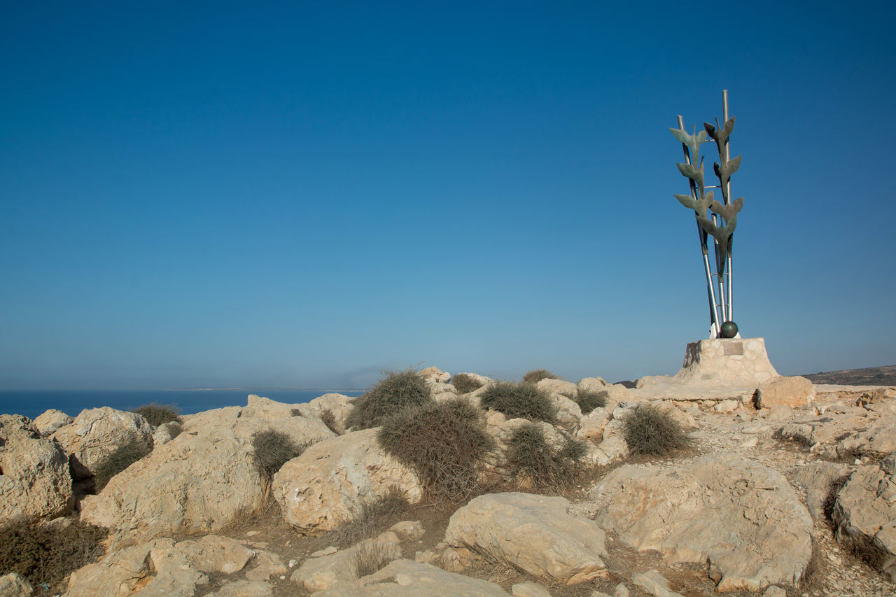 Peace Monument on Cape Greco, Cyprus Beauty In Nature Blue Cactus Cape Greco Cape Greco Cyprus Cyprus Day Landscape Nature No People Outdoor Outdoors S Scenics Sea Sky Tree