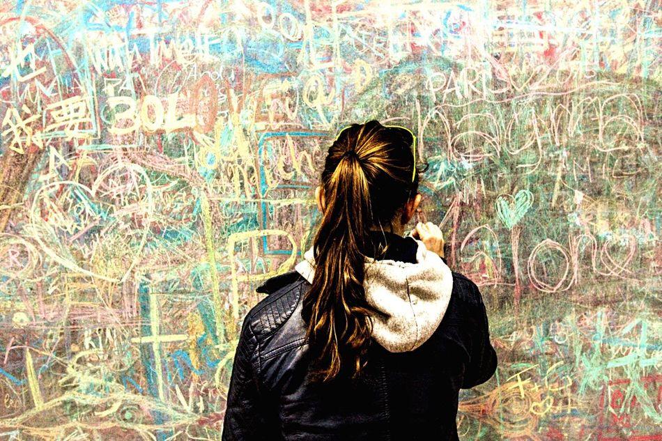 Text Board Chalk Chalkboard Blackboard  Tafel Kreide Kreidetafel Schultafel Schule School Graffiti Pupil Young Women Teenager Teen Yolo Word Words Creativity Creative Colours Colors Writing On The Walls