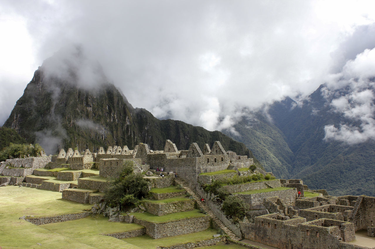 Machu Picchu - Incas Civilization Ancient Civilization Architecture Arquitecture Clouds Green Historical Building History Landscape Machu Picchu Mountain Outdoors Peru Rocks Sky South America Tourism