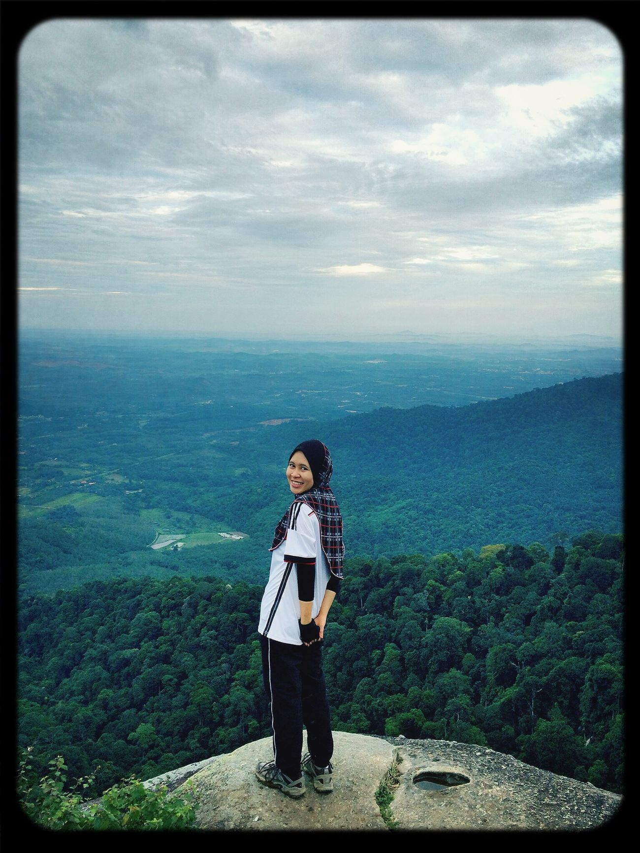 Hello World That's Me Hiking Nature Love the view of Gunung Datok ;)