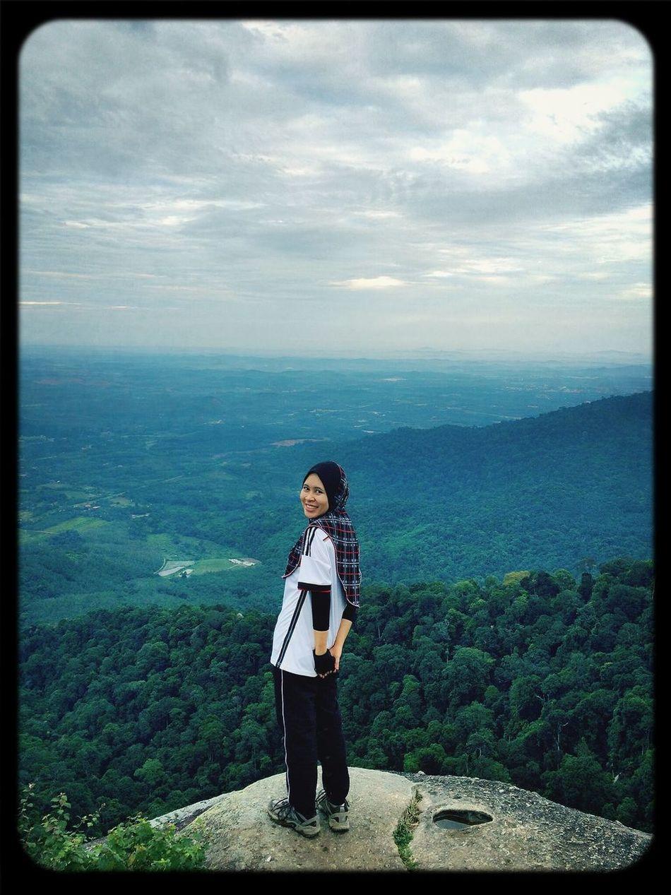 Hello World That's Me Hiking Nature Love the view of Gunung Datok ;)