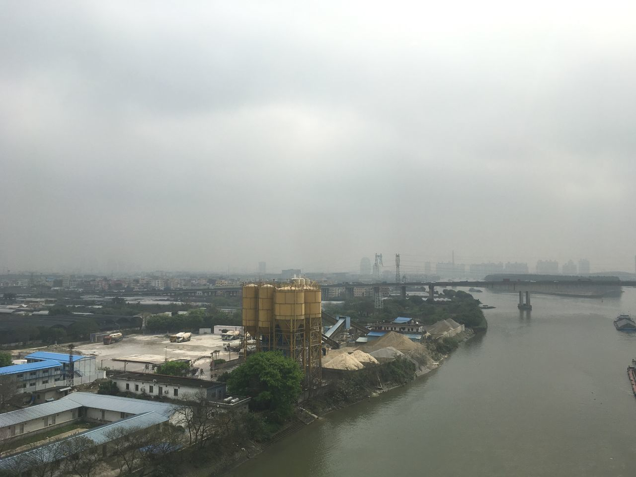 Aerial View Architecture Bridge - Man Made Structure Building Exterior Built Structure China City Cityscape Day Nature No People Outdoors River Sky Transportation Travel Destinations Water