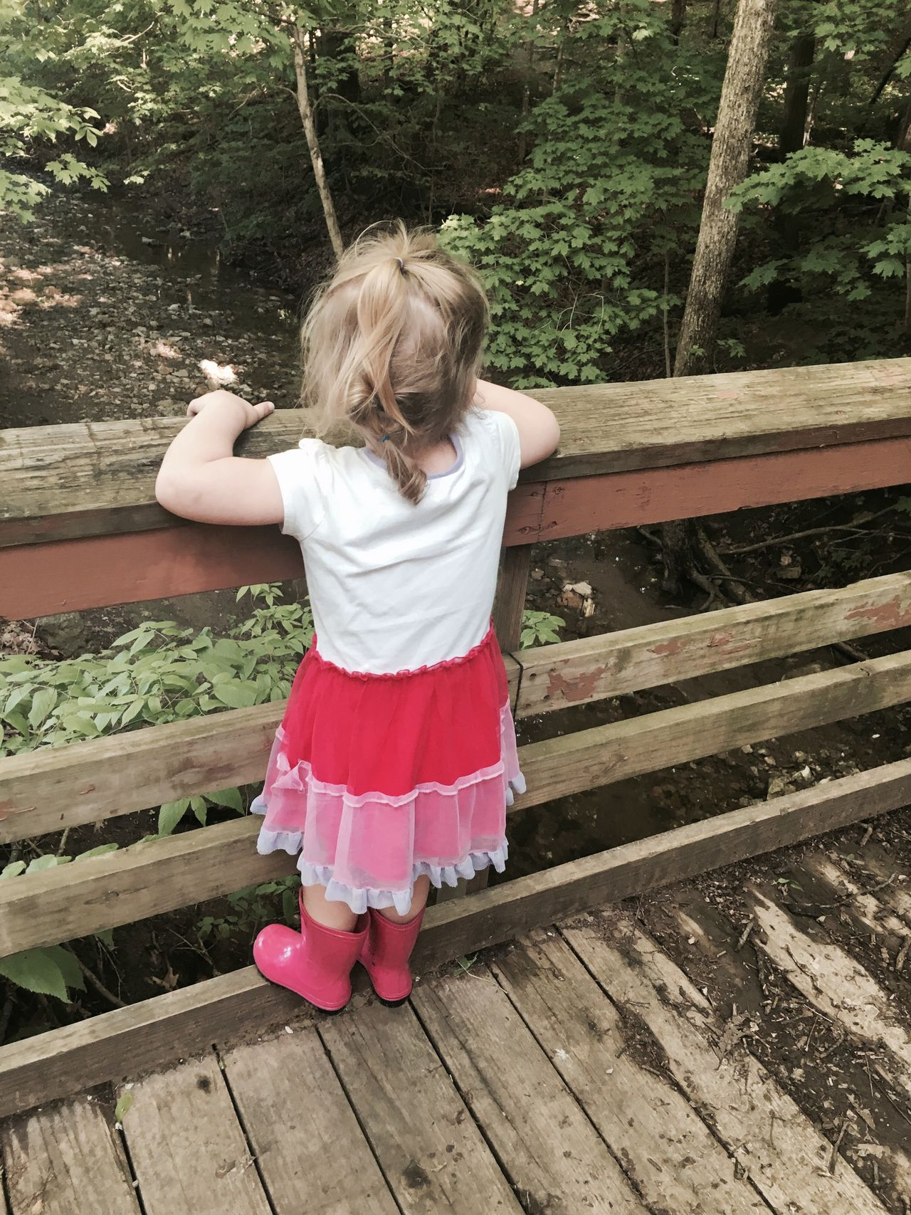 Bridge Toddlerlife Gwinning Gwennie Goose MapleWoods Creek Outside Water