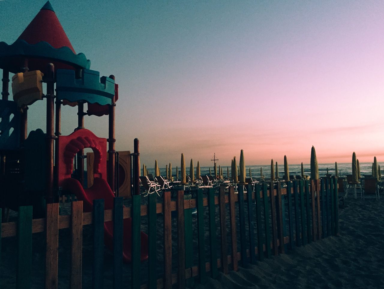 Almost night, by Claudia Ioan Sky Sunset Tranquility Outdoors Sea Nature Beach No People Horizon Over Water Mobile Photography IPhoneography Iphone6 Travel Destinations Tranquil Scene Summer Landscape Playground