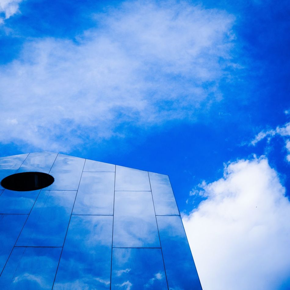Mirror Picture Low Angle View Blue Sky No People Cloud - Sky Day Architecture Building Exterior Outdoors Nature Mirror Reflection Mirror Minimalism Break The Mold
