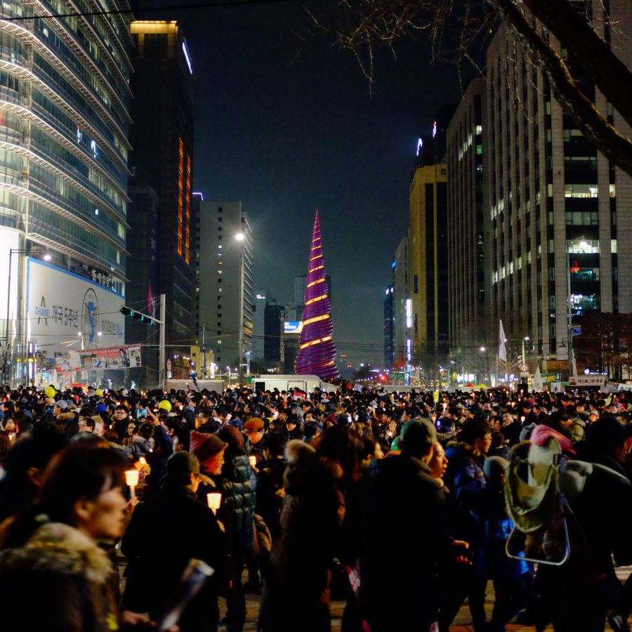 Candle Rally at Gwanghwamun Square
