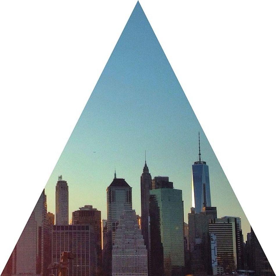 Freedom tower mountain! Triangle Shape Crop Skyline The Architect - 2014 EyeEm Awards