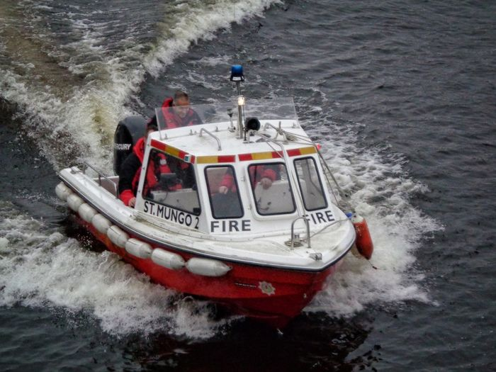 Mode Of Transport Water Transportation Nature Nautical Vessel Outdoors Day Beauty In Nature No People St Mungo 2 Fire Boat River Clyde Action