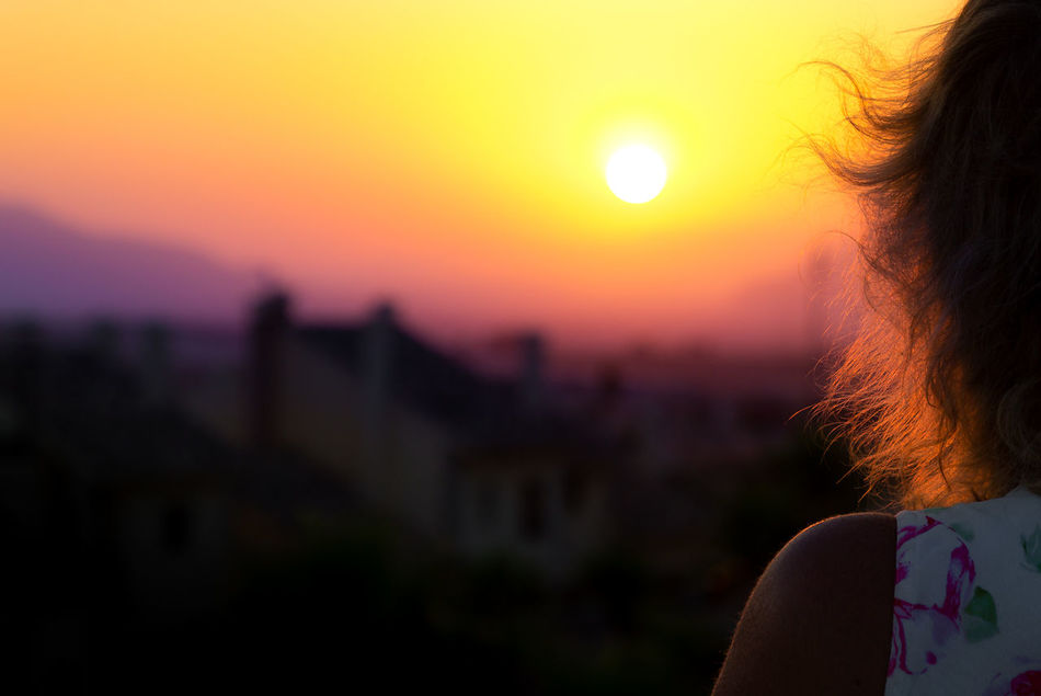Edit Back Lit Beauty In Nature Bright Close-up Focus On Foreground Headshot Human Face Lifestyles Majestic Nature Orange Color Outdoors Scenics Sky Sun Sunset Tourism Tranquil Scene Tranquility
