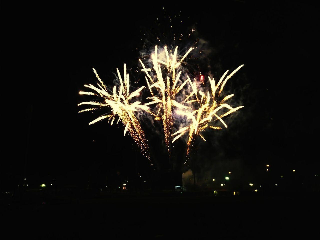 Firework Display Exploding Firework - Man Made Object Celebration Arts Culture And Entertainment Night Long Exposure Sparks Event Illuminated Awe Outdoors Sky JacksonvilleFL Baseball Game JumboShrimp EyeNewHere
