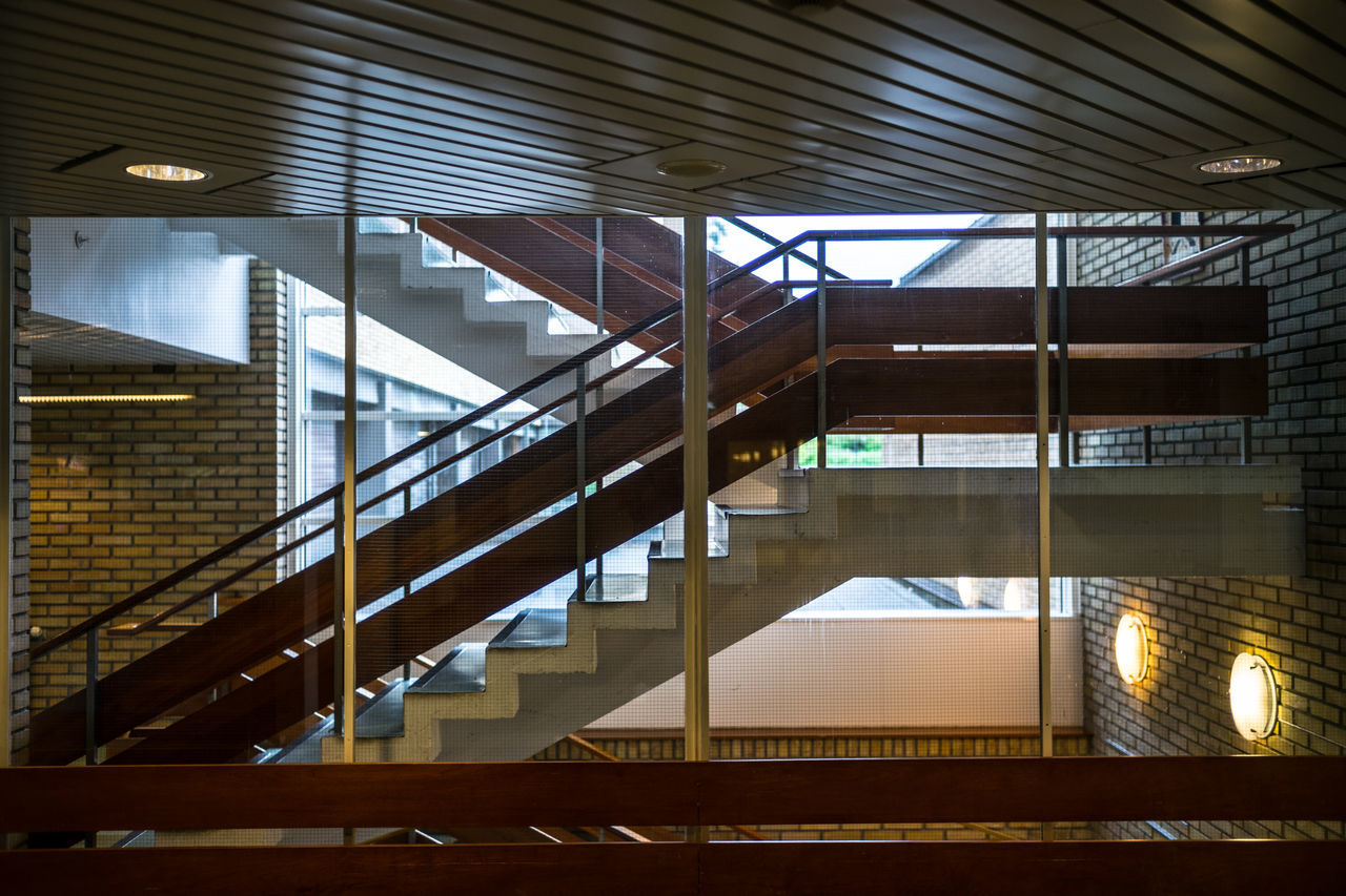 stairwell Architecture Built Structure Day Hand Rail Illuminated Indoors  No People Norway Norway🇳🇴 Railing Staircase Stairs Steps Steps And Staircases