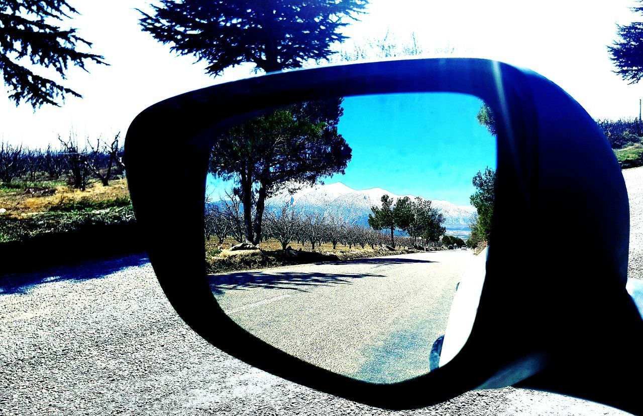 Car Transportation Tree Mode Of Transport Land Vehicle Side-view Mirror Reflection Sky Day Car Interior Vehicle Mirror Nature Outdoors Water No People Motorsport Türkiye Ontheroad