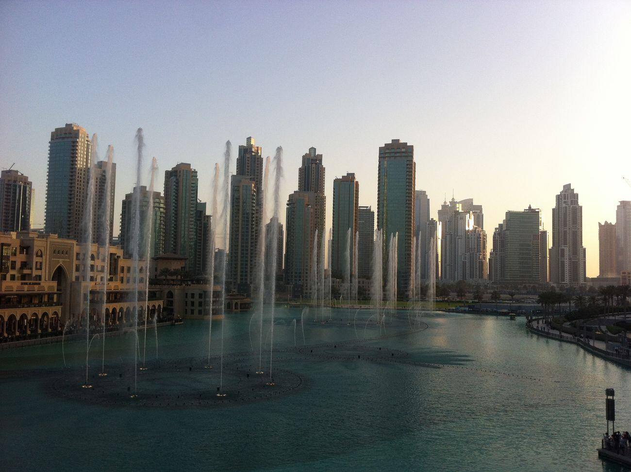 Skyline Dubai Fontaines