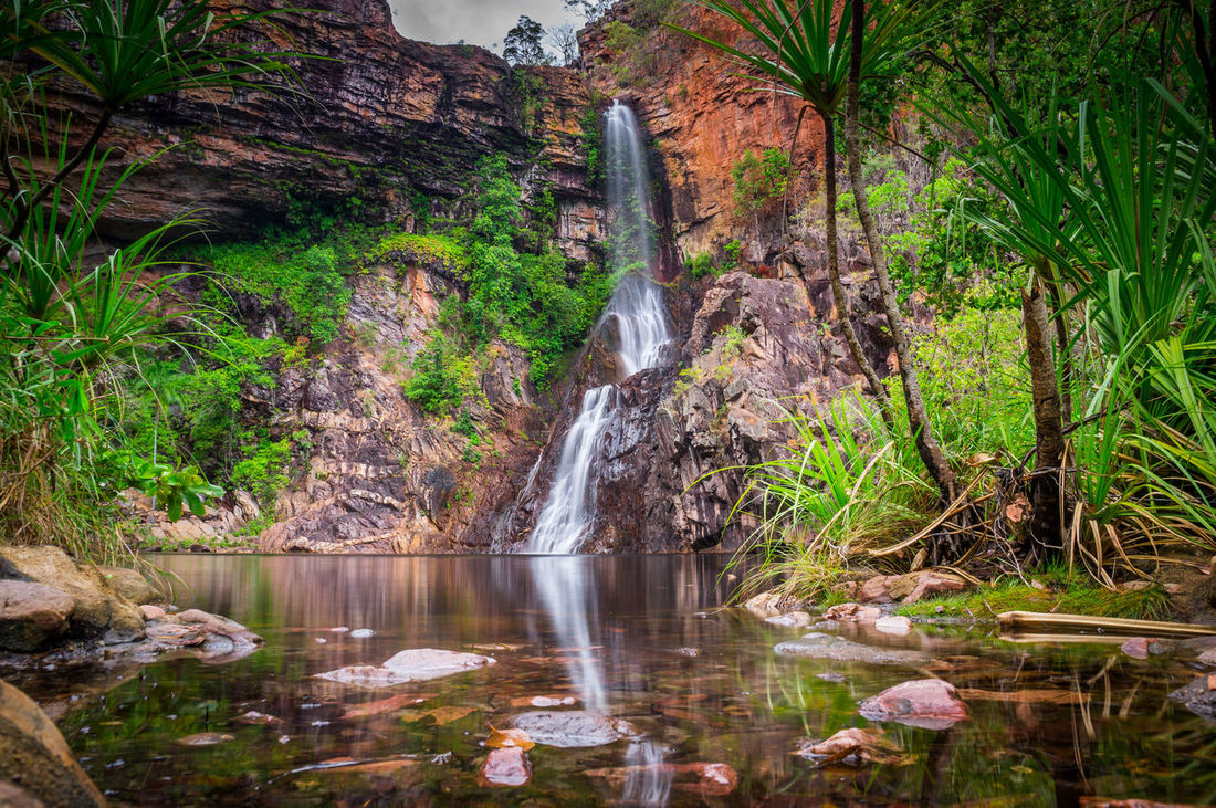 The Tjaynera Falls at Sandy Creek are among the least visited sights of Litchfield National Park in Australia's Northern Territory. The falls can only be reached by a 4x4 track and a walk. Architecture Australia Beauty In Nature Darwin Day Eco Tourism Lake Landscape Litchfield Litchfield National Park Long Exposure National Park Nature No People Northern Territory Outdoors Scenics Social Issues Stream Travel Destinations Tree Area Water Water Reflections Waterfall