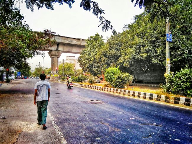 A walk in morning.. With A Friend Street Photography Quick Shot Effects & Filters Urban Landscape Capturing City