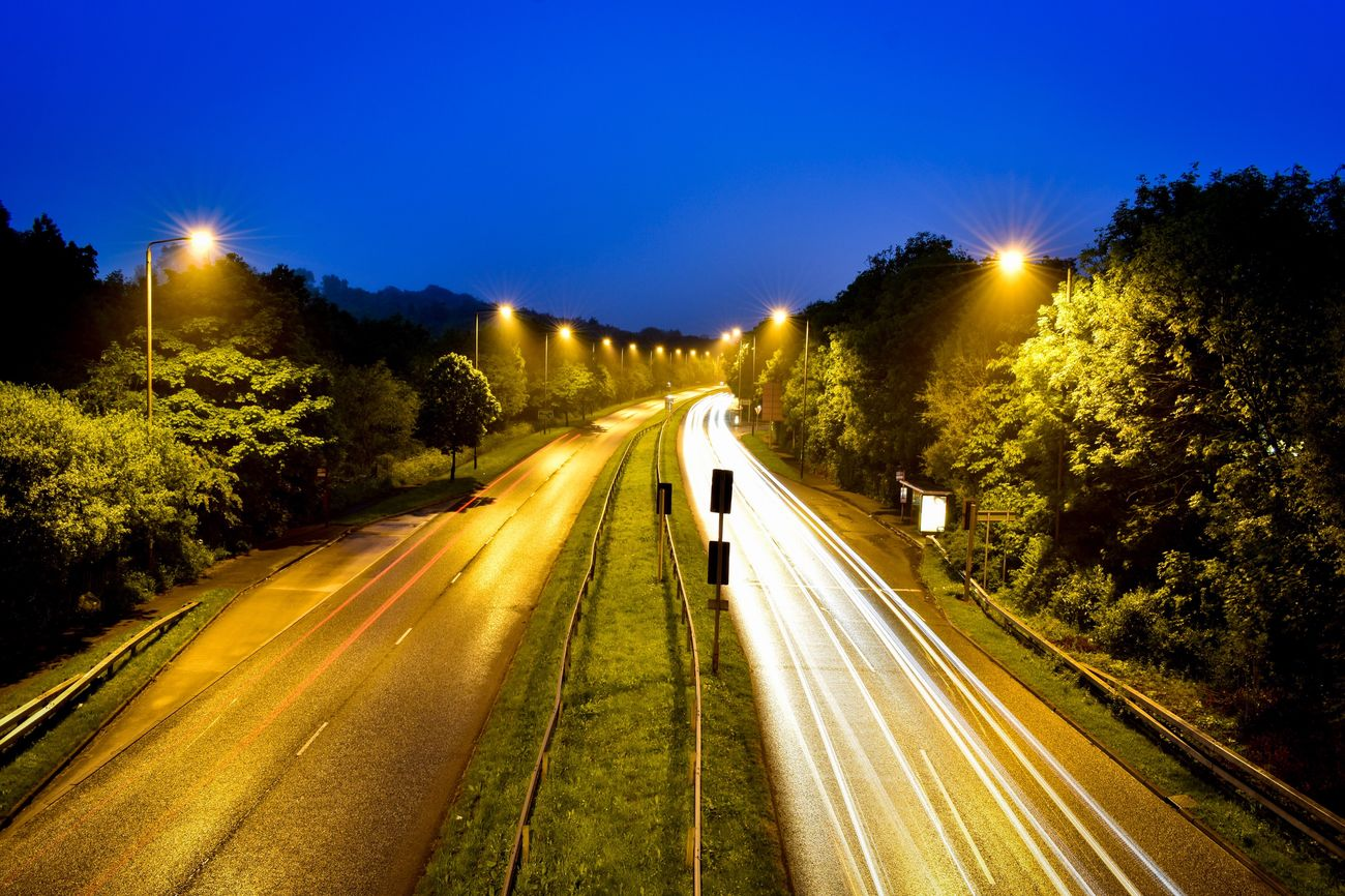 Leeds Ring Road Speed Light Trail Transportation Illuminated Road Night Highway Motion Long Exposure Traffic Street Light Blurred Motion Car No People Outdoors Tree Clear Sky Nature Sky Leeds Leeds, UK Road Nightphotography Night Lights Night Photography