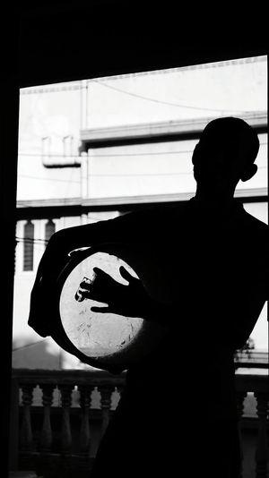 Silhouette Blackandwhite Drumandbass