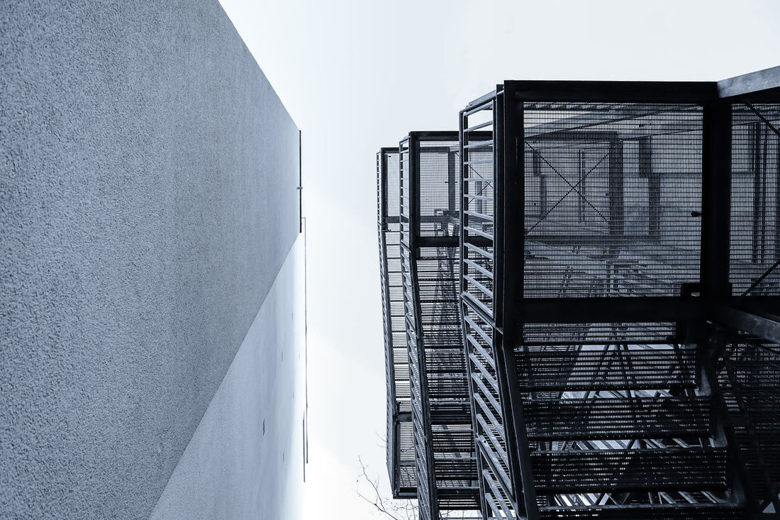 fire stair Architecture Brick Wall Building Exterior Built Structure Development Engineering Feuertreppe Fire Stair House Lookingup Metal Modern Monochromatic Monochrome Office Building Residential Structure Stairs Treppe Treppen Urban Urbanphotography