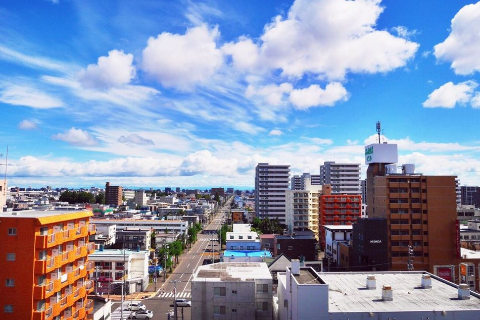 My Favorite Place Blue Sky And Clouds Taking Photos Sapporo Hokkaido Japan AO Autumn Colors Adapted To The City Landscapes