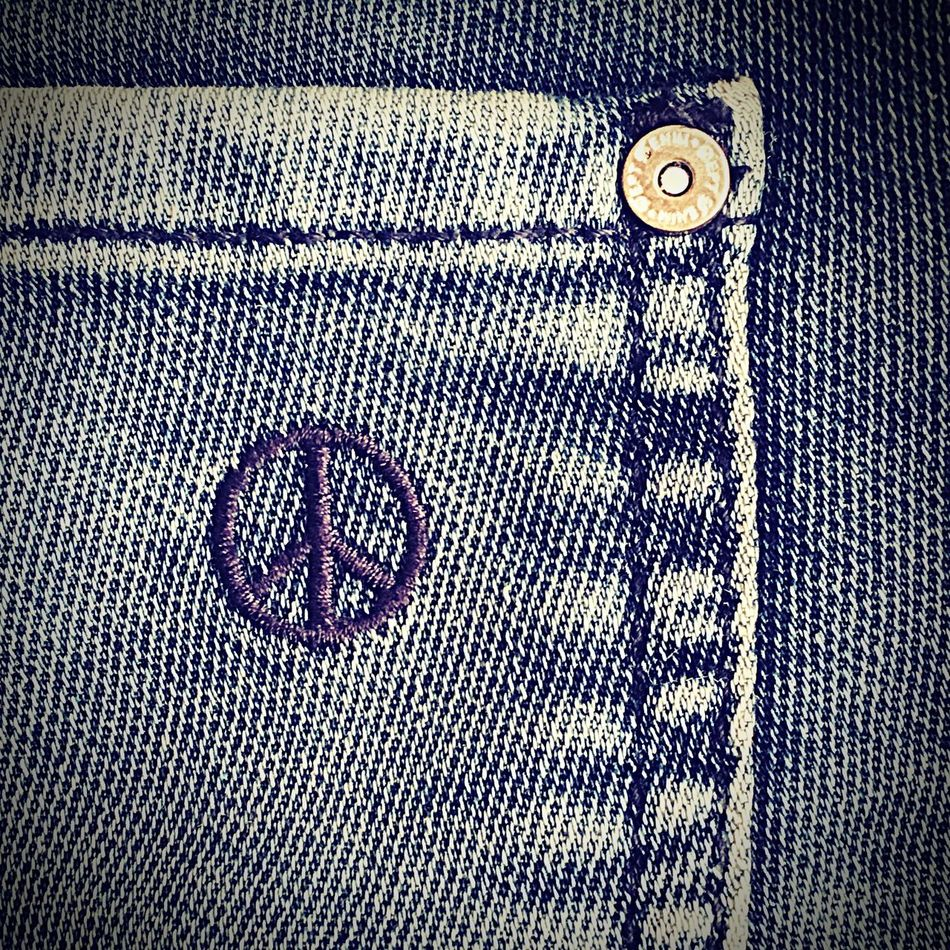 Pattern Close-up Textured  Full Frame No People Pocket  Jean Blue Jean Peace Peace Symbol Peace Sign  Symbol