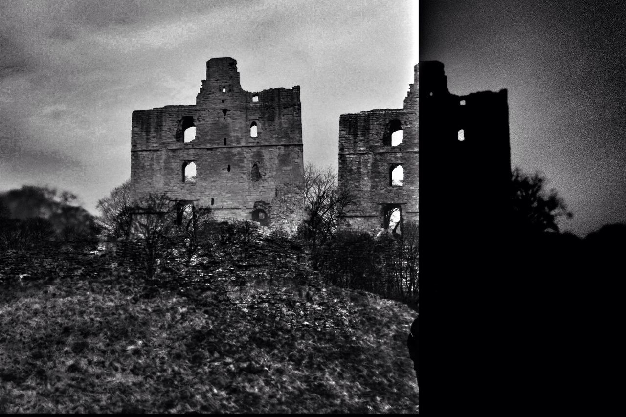 Exposed.... Architecture Built Structure Old Castle Building Exterior Medieval History Tower The Past Fort Sky Old Ruin Low Angle View No People Outdoors Day Eyem Best Edits EyeEm Best Shots Blackandwhite Photography Black And White Blackandwhite