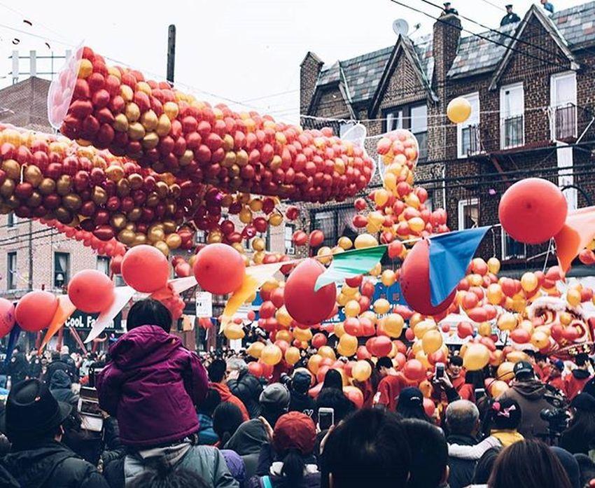 Death by Balloons ✔ ... NYC Brooklyn Sunsetpark Chinesenewyear
