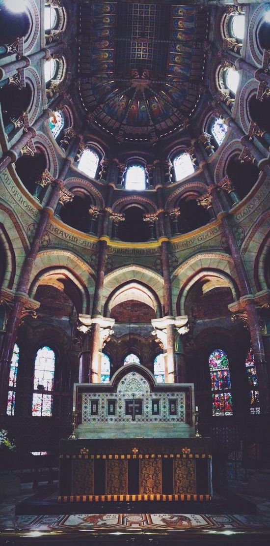Vscocam Churches Old Church Cathedral Ireland🍀 IPhoneography Ceiling Panoramic Panoramic Photography