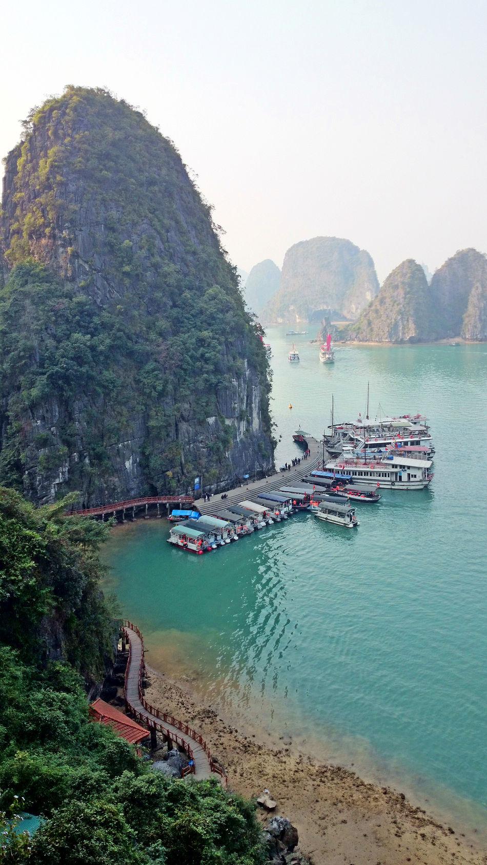 Bay Cruise Destination Halong Halong Bay Vietnam Halongbay Landscape Life Living Mountain Scenics Sea Tourist Attraction  Travel Vietnam Water