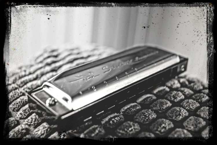 Relaxing Cool Like That.. Black And White Collection! Harmonica