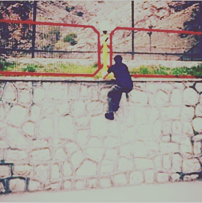Real People One Person Full Length Outdoors Day Sport People Parkour Parkour And Free Running Sport Tehran Tochal Free Running  New Sport