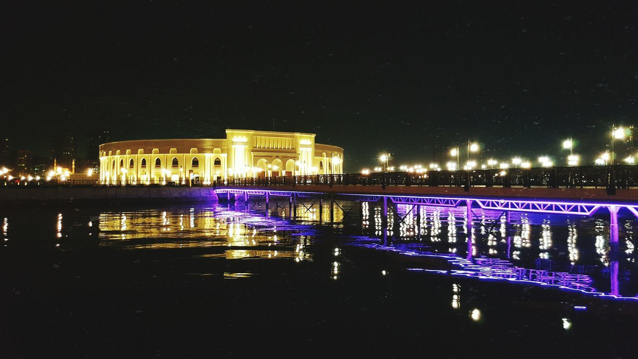 night, illuminated, architecture, built structure, building exterior, water, reflection, travel destinations, travel, history, sky, city, outdoors, no people, nature, chain bridge