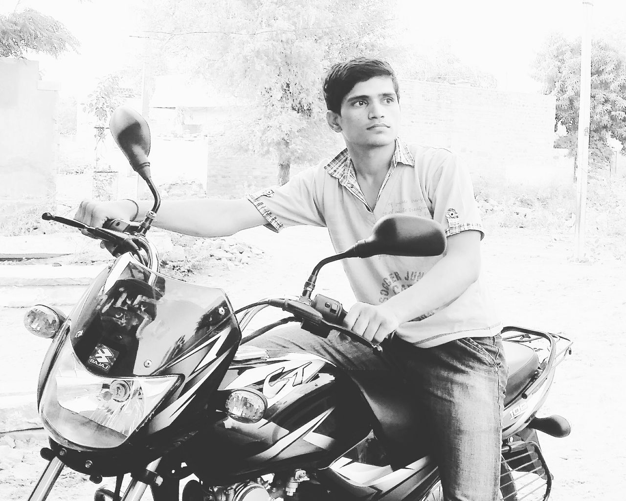Fashion Bike Ride Bike Bajaj Boy Handsome Model Village Happy People One Person Outdoors Sunlight Day EyeEm