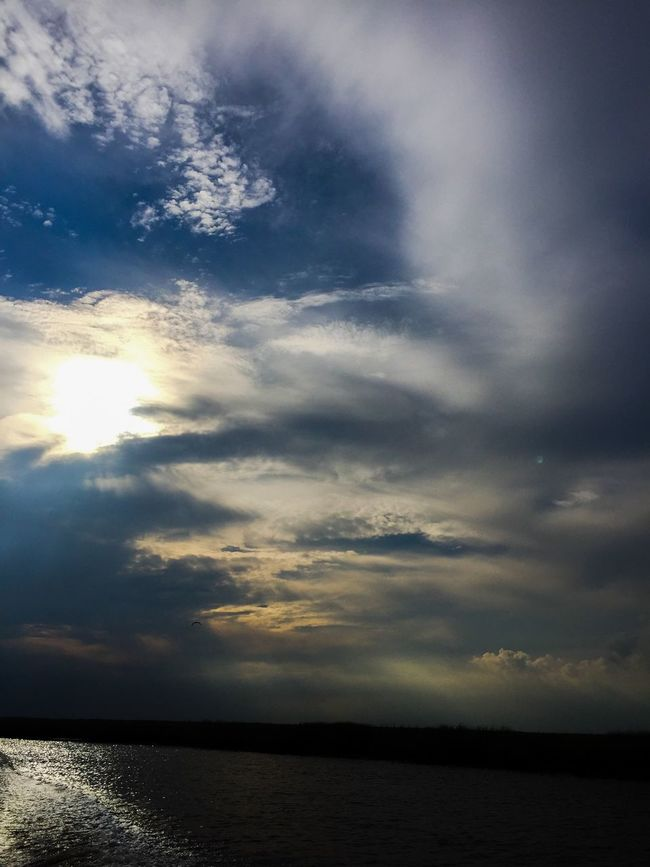 Summer Boatview Tuckahoe River River Clouds And Sky Clouds Sun And Clouds Sun Peeking Through