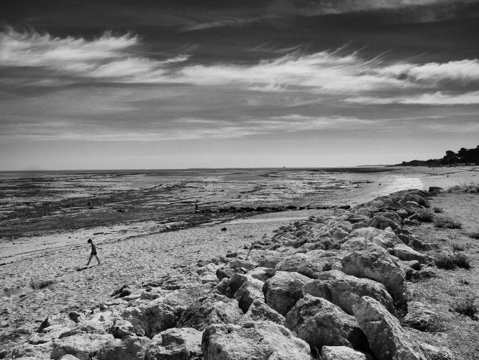 Black And White Beach Ile D'Oleron